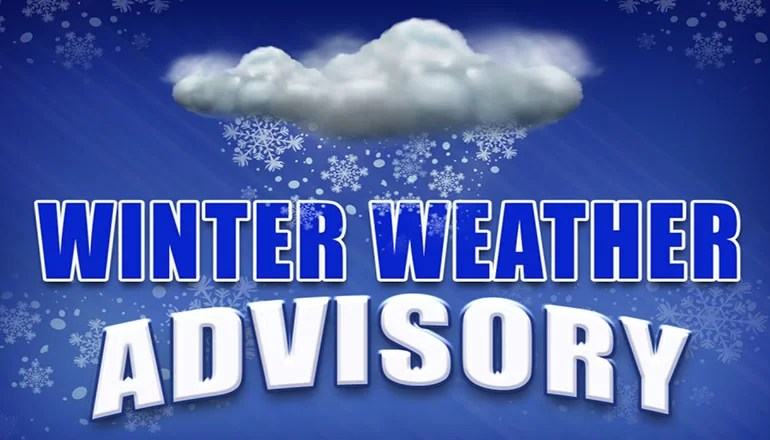Winter Weather Advisory issued for counties along Iowa border